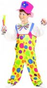 Childs Clown Fancy Dress Costume